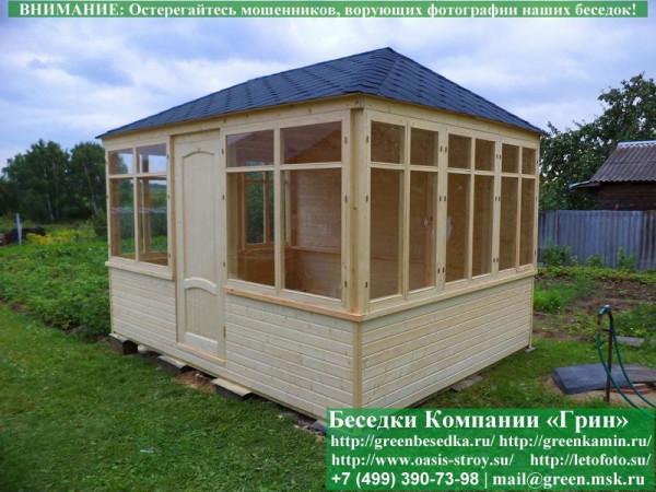 Садовый шатер для дачи 3,5х3,5 метра
