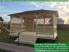 Садовый шатер для дачи 4,5х5,5 метра с полом