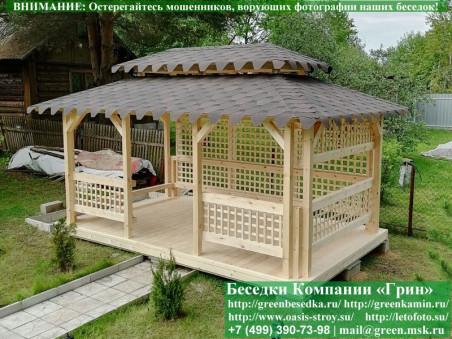 Садовый шатер для дачи 4х4 метра с полом