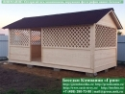 Прямоугольная садовая беседка 3х6 метров. Цена - 89000 руб.