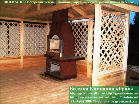 Закрытая застекленная летняя кухня 3х5