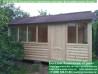 Прямоугольная садовая беседка 4х4 метра