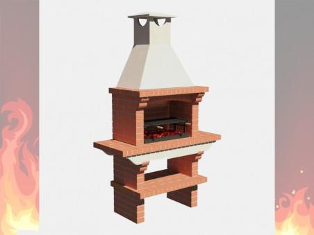 Печь-Камин из кирпича для дачи и дома № 1