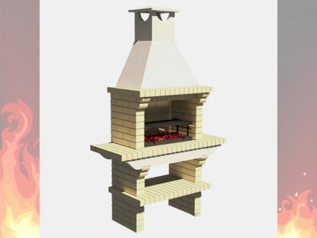 Печь-Камин из кирпича для дачи и дома № 2