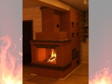 Печь-Камин из кирпича для дачи и дома № 4