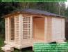 Садовый домик барбекю для дачи 3х3